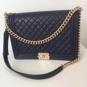 Chanel Large Le Boy ,GHW